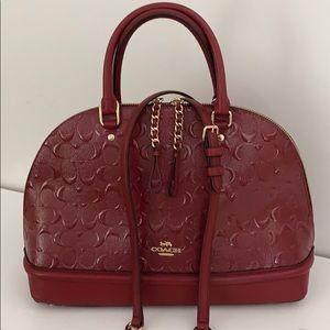 Coach Sierra Debossed Patent Leather Satchel Purse
